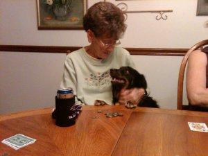 Loves her Dog