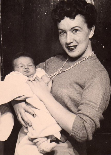 My Mom holding her first born - my sister Barb