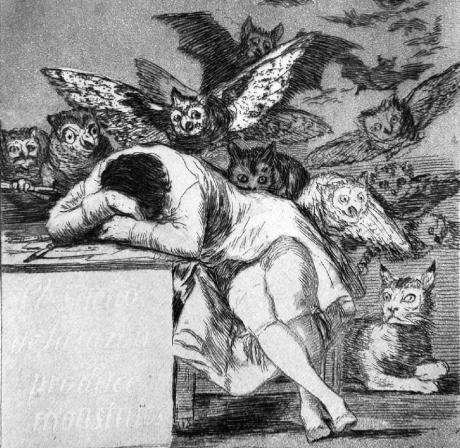Goya -The sleep of reason produces monsters (c1799) recut